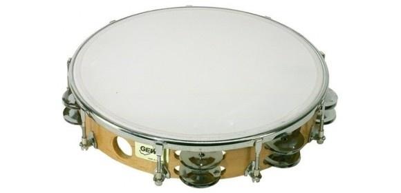Tambourin Traditionell mit Schellen 10''