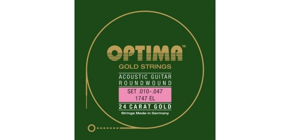 Optima Saiten für Akustikgitarre Gold Strings G3 .023w