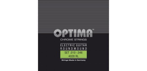 Optima Saiten für E-Gitarre Chrome Strings Round Wound A .017