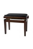 Pianobank Deluxe Nussbaum matt Bezug schwarz