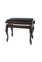 Pianobank Deluxe Classic Rosenholz matt Bezug schwarz