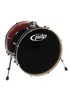 Bassdrum Concept Maple Red to Black Sparkle Fade