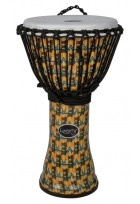 "Djembé Liberty Series Rope Tuned 14"" Abstract Kente"