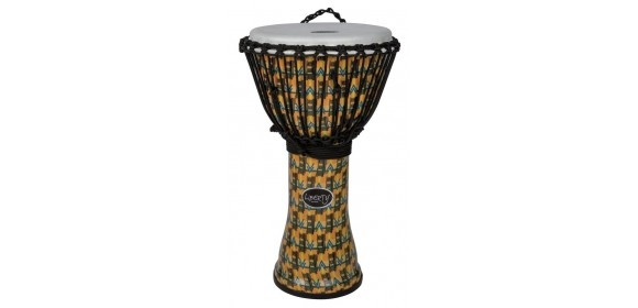 "Djembé Liberty Series Rope Tuned 10"" Abstract Kente"