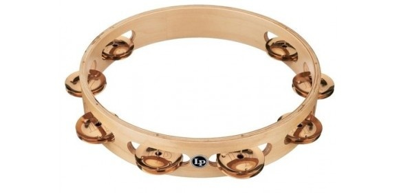 Tambourin Pro 10in Single Row Tambourin Bronze