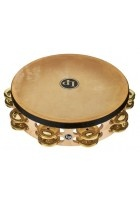 "Tambourin Pro 10in Double Row With Head 10"" Messing"