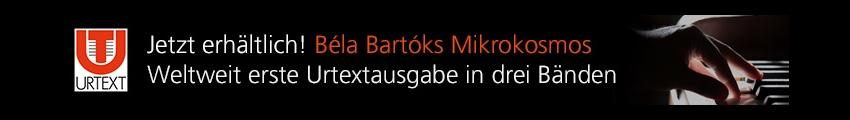 mikrokosmos von Bela Bartok als Urtextausgabe