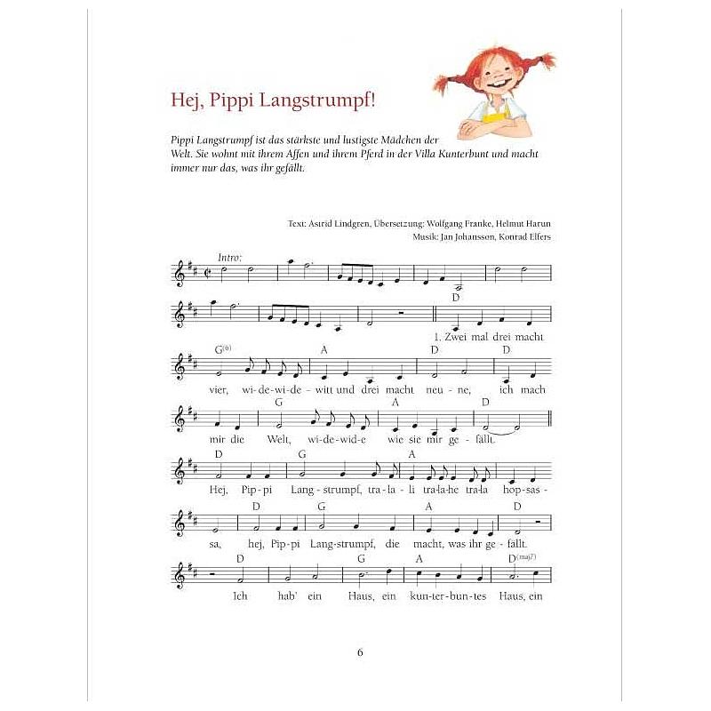 Pipi Langstrumpf Lied Text