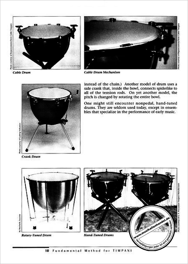Notenbild für ALF 4312 - FUNDAMENTAL METHOD FOR TIMPANI