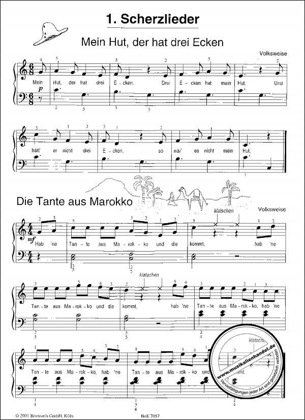 KINDERLIEDERKISTE FUER KLAVIER - von Brunsch Elisabeth Helene - BOE 7057 -  Noten