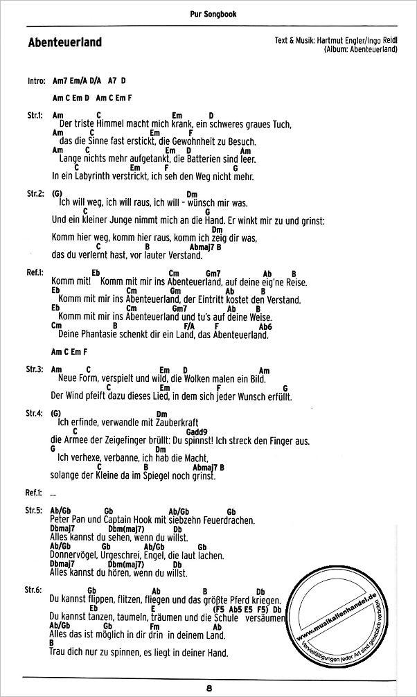songbook von pur boe 7441 noten
