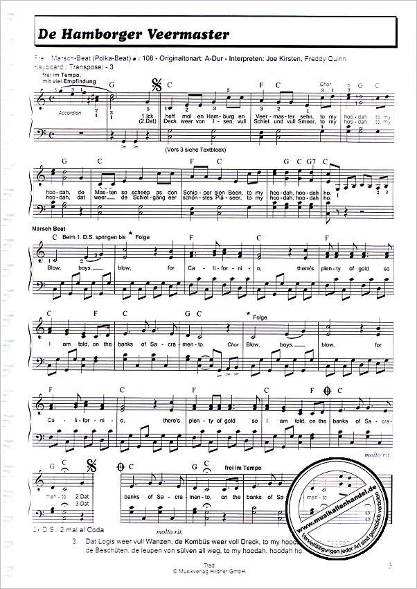 Klavier 7772 Gitarre 100 Hits in C-Dur Band 3 Noten für Keyboard