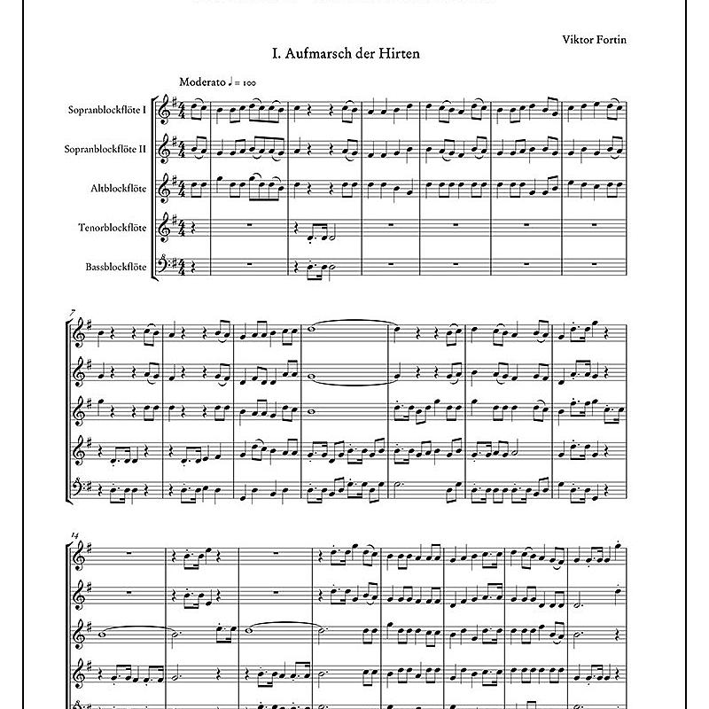 STEIRISCHE WEIHNACHTSMUSIK - von Fortin Viktor - DO 04374 - Noten