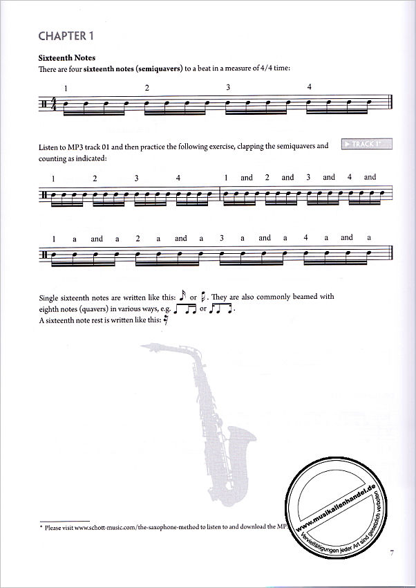 Notenbild für ED 13912 - SAXOPHONE METHOD 2