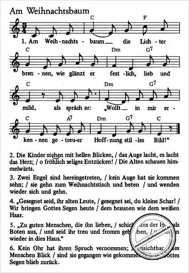 WEIHNACHTSLIEDER - 39 AUSGEWAEHLTE LIEDER - von - EN 1705 - Noten