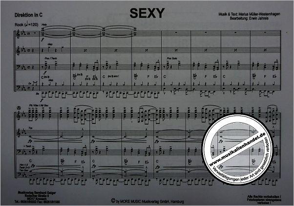 Sexy Von Mueller Westernhagen Marius Geiger 120 Bb Noten