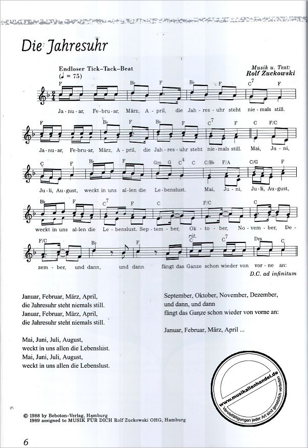 SINGEN MACHT SPASS - von Zuckowski Rolf - SIK 1130 - Noten