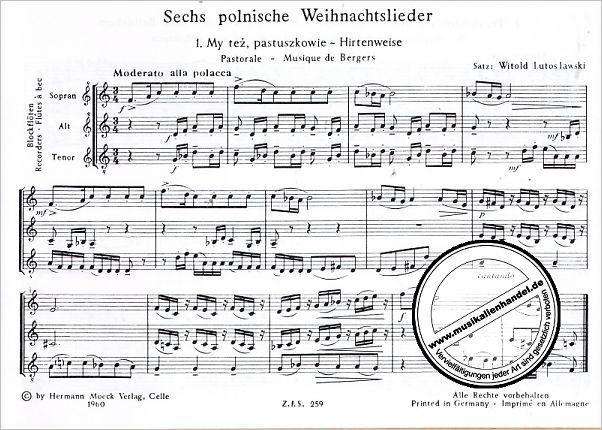 Polnische Weihnachtslieder Texte.6 Polnische Weihnachtslieder