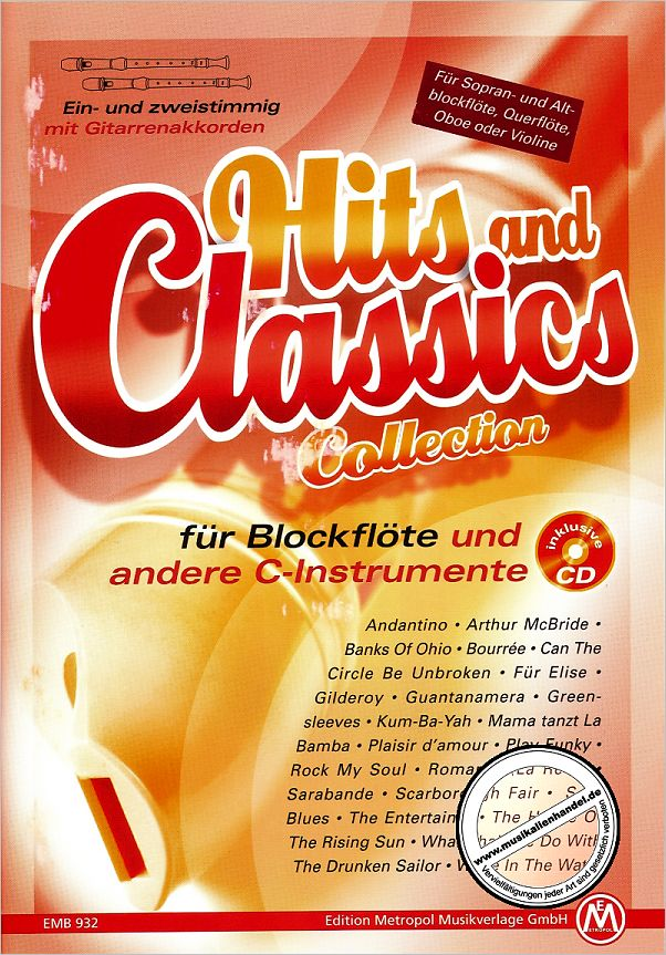 Titelbild für METEMB 932 - HITS AND CLASSICS COLLECTION