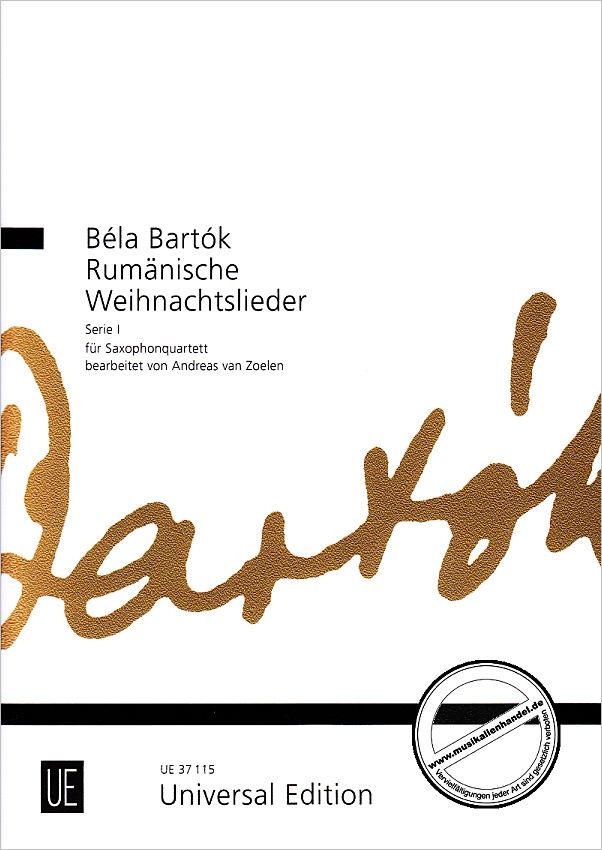 RUMAENISCHE WEIHNACHTSLIEDER - von Bartok Bela - UE 37115 - Noten